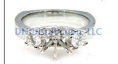 0.50 Ct Diamond & 18KT White Gold Semi Mount Ring (CL1499)