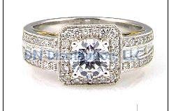 0.58 Ct Diamond & 18KT 2 Tone Gold Semi Mount Ring (CL2449)