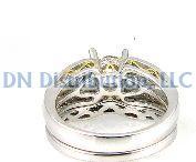 0.67 Ct Diamond & 18KT White Gold Semi Mount Ring (CL3180)
