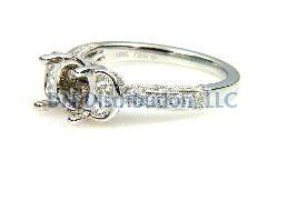 0.70 Ct Diamond & 18KT White Gold Semi Mount Ring (CL1195)