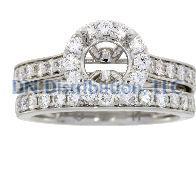 1.03 Ct Diamond & 18KT White Gold Semi Mount Ring (CL2239)