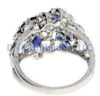1.60 Ct Diamond & 18KT White Gold Sapphire Ring (CL1329)