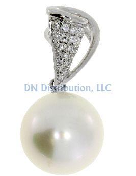 Diamond & South Sea Pearl  Pendant (CL800)