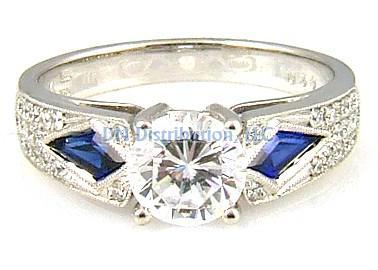 .72 Ct Diamond & 18KT White Gold Semi Mount Ring (CL1919)