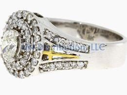 .99 Ct Diamond & 18KT 2 Tone Gold Ring (CL1329)