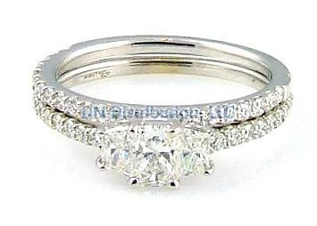 1.27 C t.  Diamond & 18KT White Gold Ring Set (CL3495)