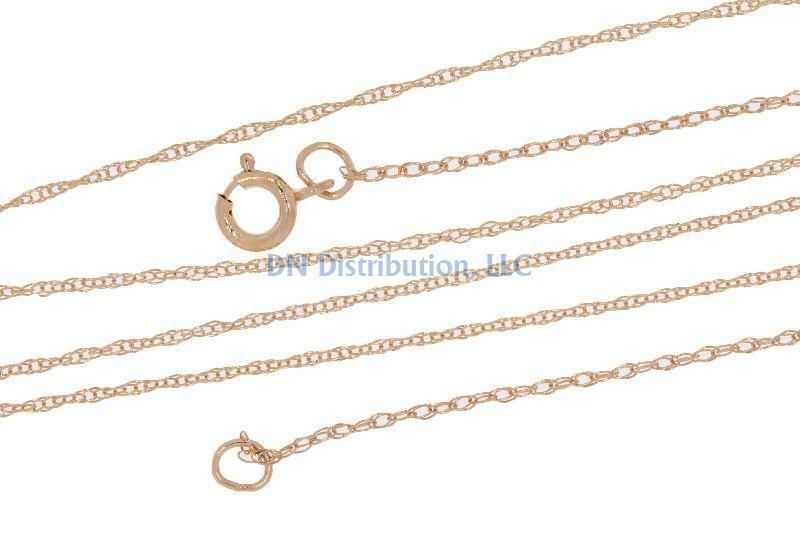 14KT Rose Gold Chain Necklace (CL41)
