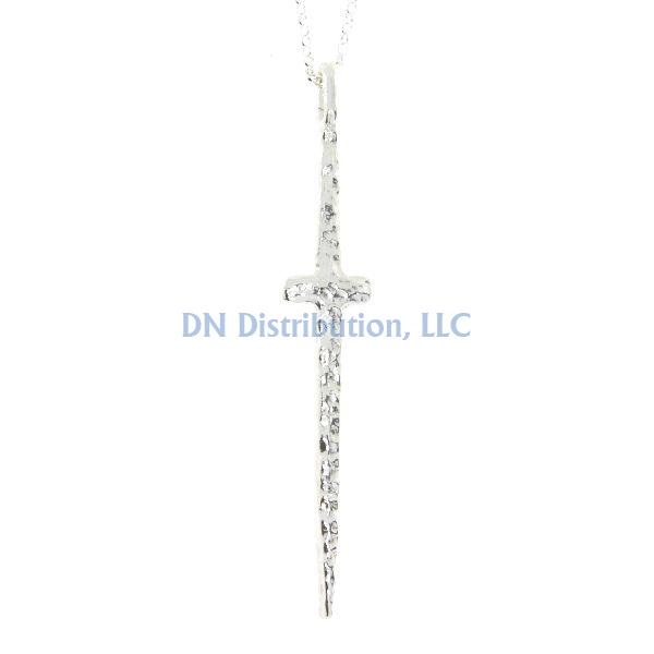 Sterling Silver Cross Religious Pendant (CL69)
