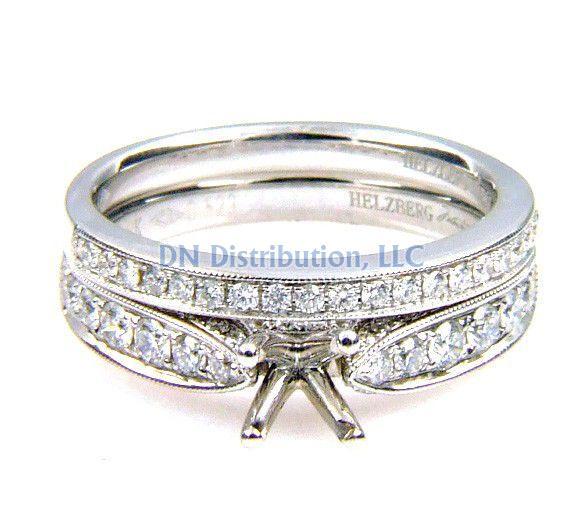 0.61 Ct .Diamond & 18KT White Gold Semi Mount Ring (CL2695)