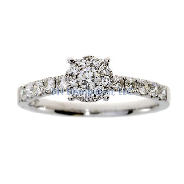 .50 Ct Diamond & 18KT White Gold Ring (CL799)