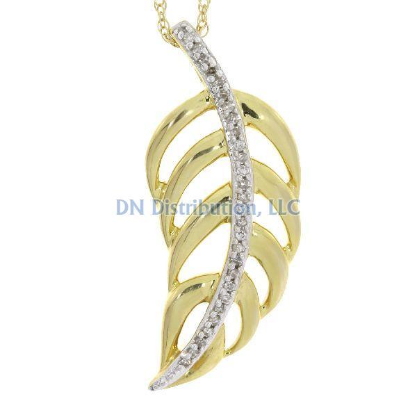 .05 Ct Diamond & 10KT Yellow Gold Pendant (CL118)
