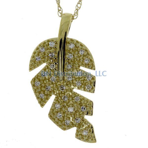.10 Ct Diamond &  10KT Yellow Gold Pendant (CL165)