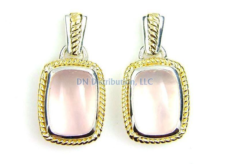 Sterling Silver Quartz Dangle Earrings (CL575)