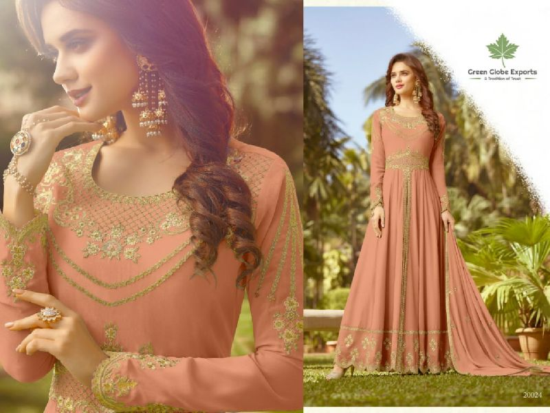 Embroidered Georgette Gown (Raazi 20024)