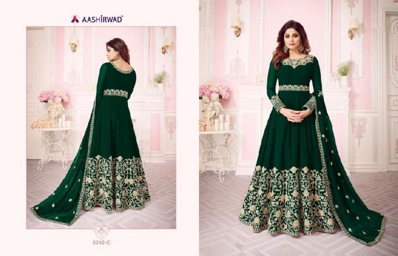 Georgette Embroidery Gown
