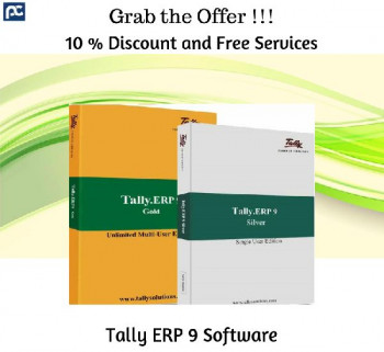 Get 10 % Discount on all Products and Free Services- Tally ERP Software, Perfonec