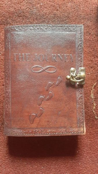 Leather diary hand made