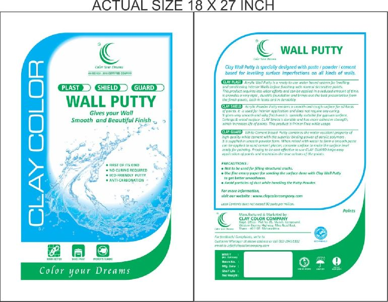 Clay Guard Cement Based Wall Putty