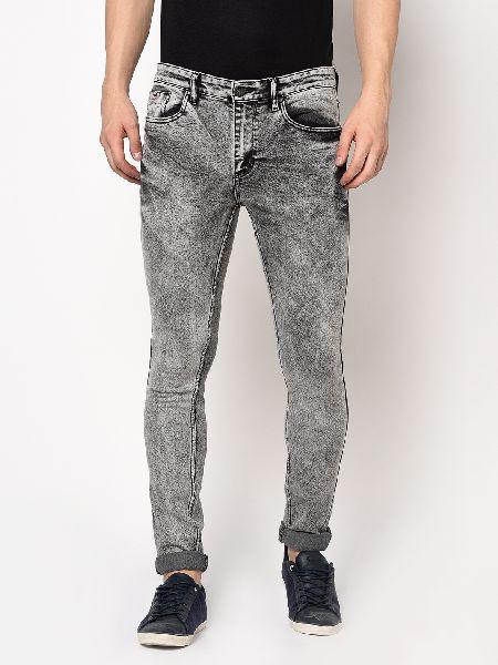 TJ-6306 Light Grey Mens Denim Jeans