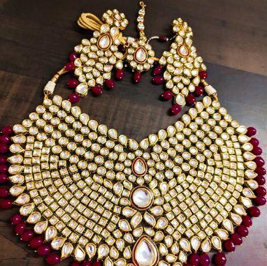 BDL4 Kundan Bridal Necklace Set