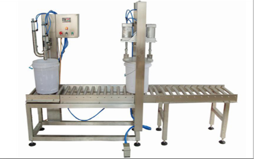 Fully Automatic Lid Placing & Pressing Machine