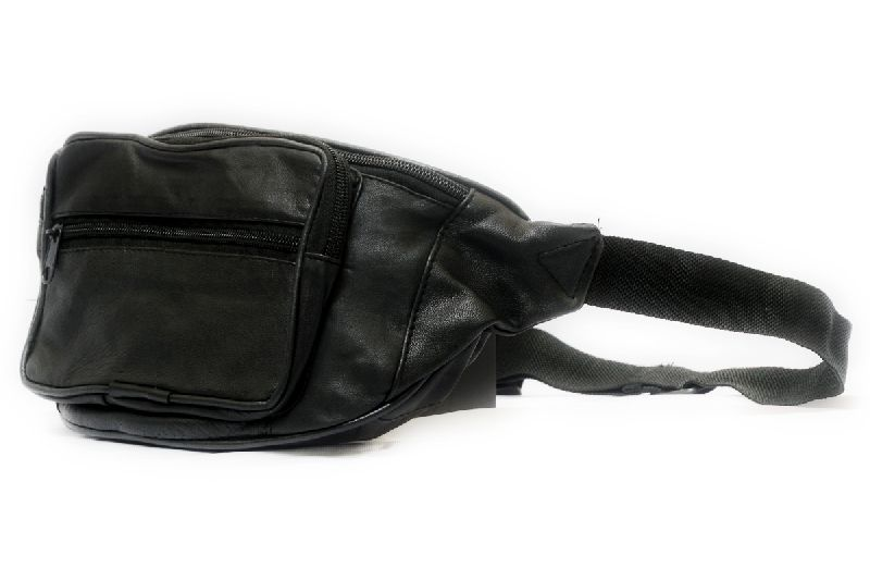 Genuine Sheep Leather Three Zipper Waist Bag (T&T-L3) (T&T-L3)