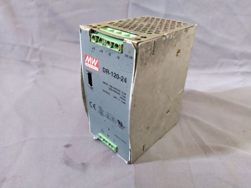 MEAN WELL DR-120-24 POWER SUPPLY AC-DC