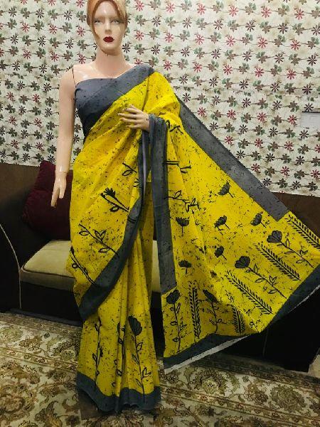Fancy Hand Block Printed Sarees