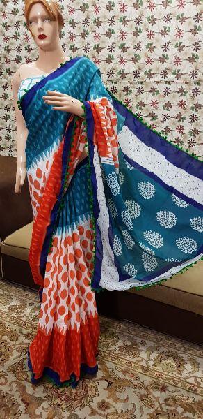 Modern Hand Block Printed Sarees