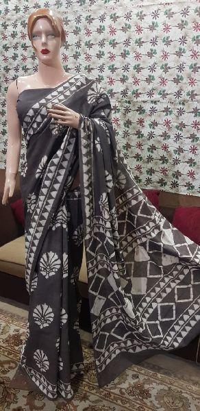 Multicolor Hand Block Printed Sarees