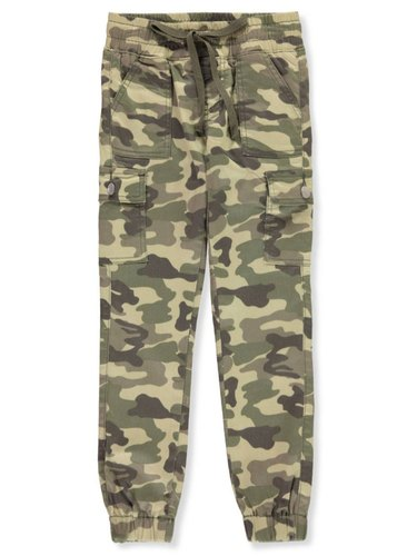 Kids Cotton Cargo Military Pants