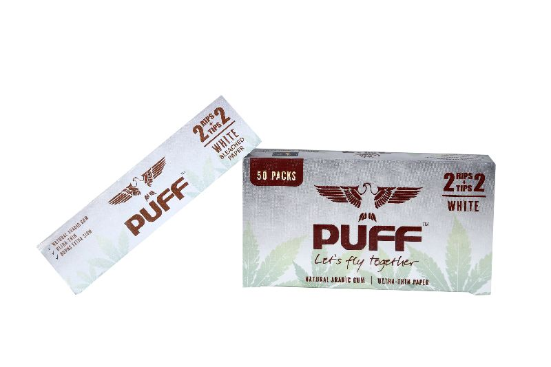 Puff Rolling Papers (Bleached) (2+2) (PUFF_W2)
