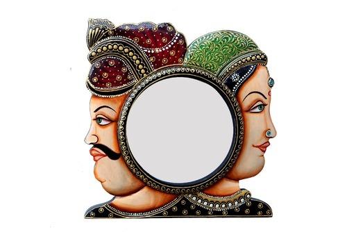 Handpainted Wooden Framed Mirror