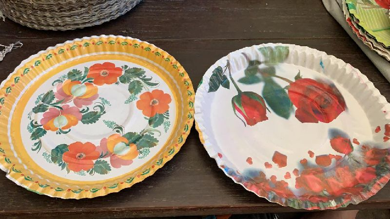 Disposable Printed Paper Plates