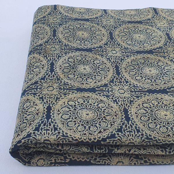 Ajrak Block Print Cotton Fabric