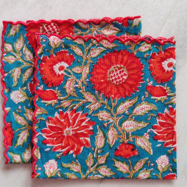 Cotton Hand Block Printed Napkin