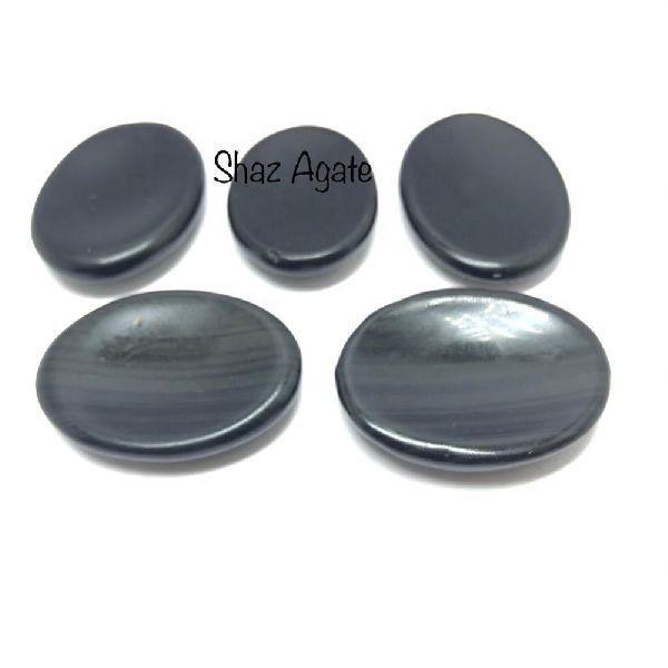 Black Obsidian Worry Stone (worry stone002)