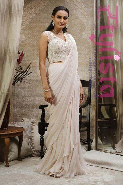 Stitched Designer Sarees