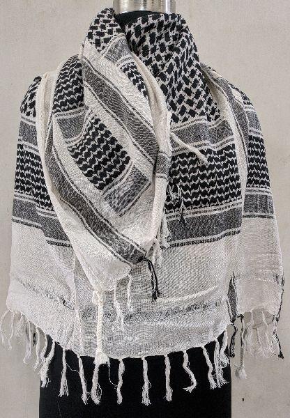 100% Cotton Jacquard Arafat Scarf/Stole/Rumal