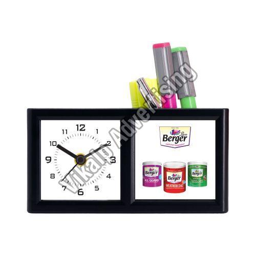 Table Clock Pen Stand (VEG 22)