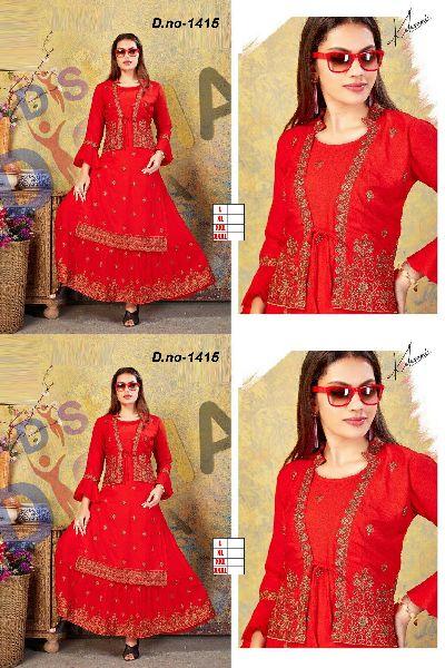 Rayon kurti design number 1415 (1415)