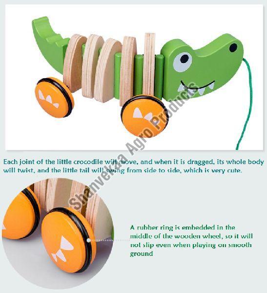 Wooden Crocodile Toy