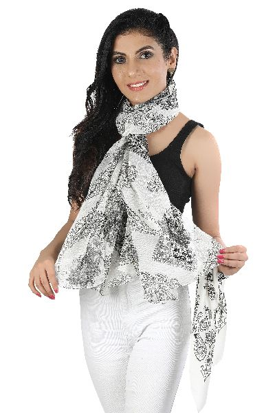Polyester Chiffon Printed Scarves
