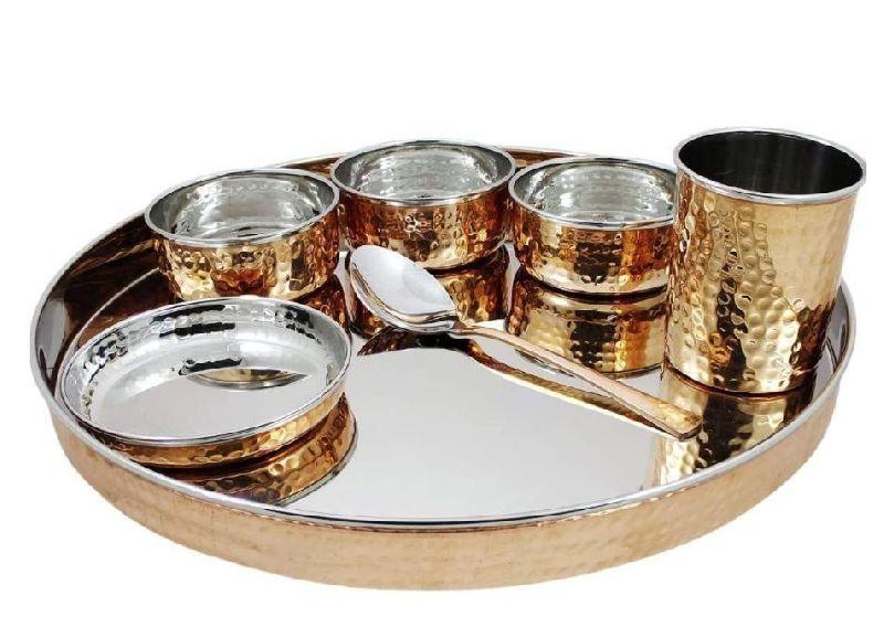 Copper Steel Dinner Set