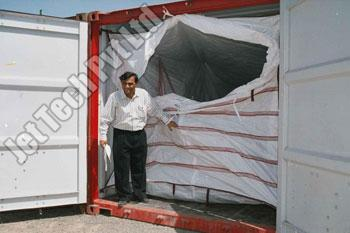 Container Liner Without Metal Bar Support