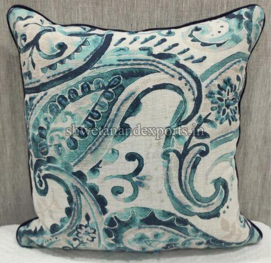 Oatmeal Blue Cushion Cover