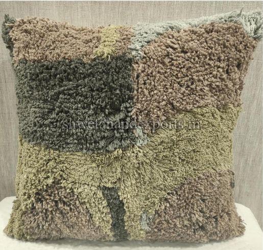 Cotton Casement Green Cushion Cover