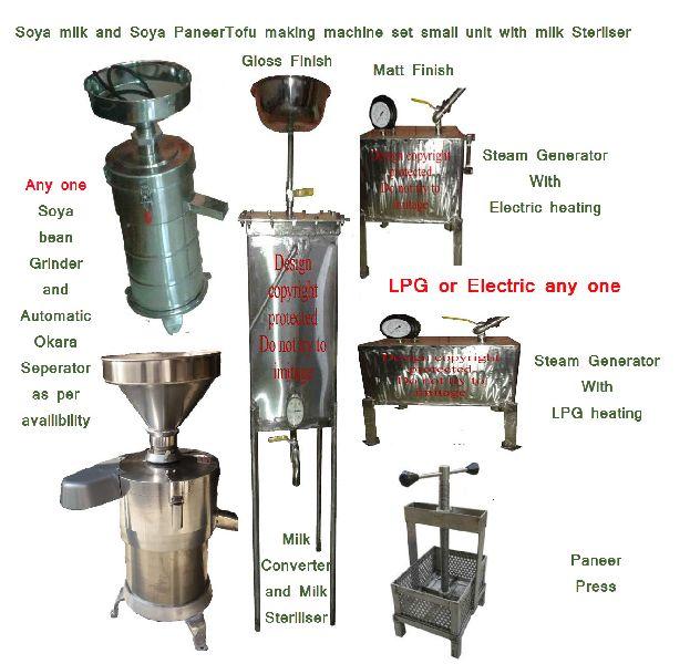 soya milk paneer making small unit steriliser machine