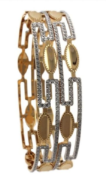 Ladies Party Wear Gold Bangles