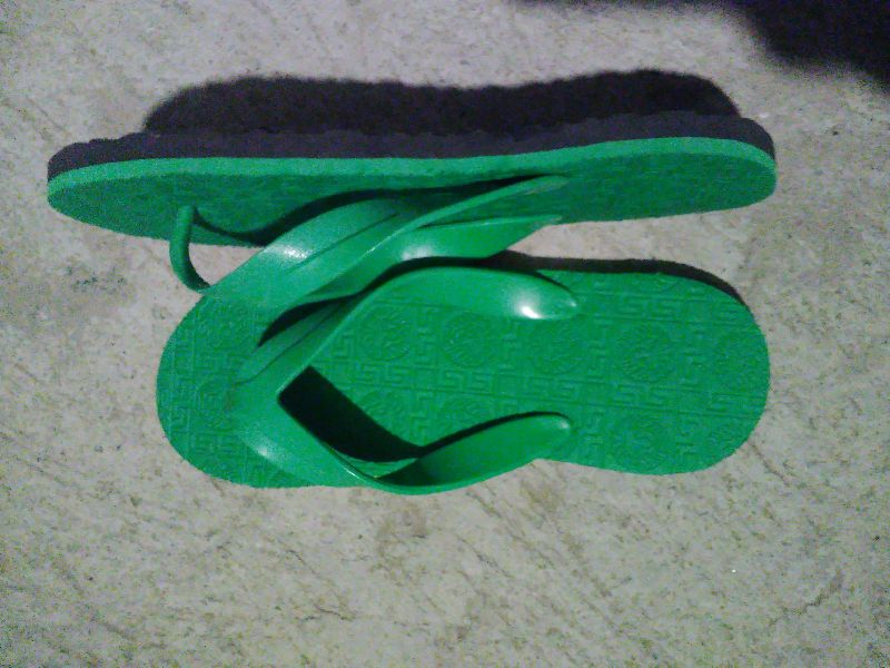 Mens Green Rubber Slippers